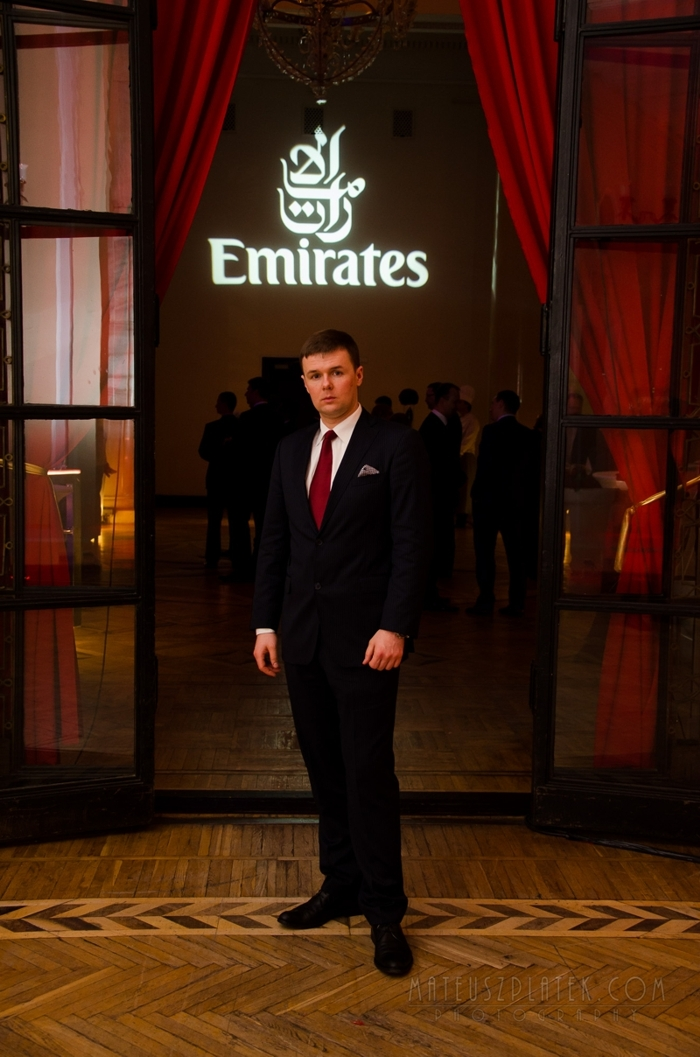 AHCII chairman Lucas Luniewski at the opening reception of the Emirates in Warsaw. 2015